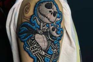WOW – Nightmare Before Christmas Tattoo  by @dudalozanotattoo